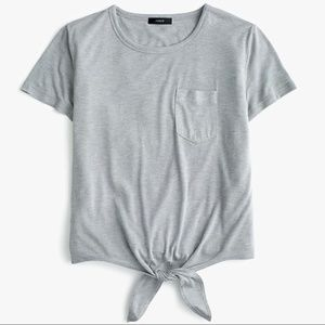 J. Crew Grey Knotted Pocket Tee Shirt SIze XXS